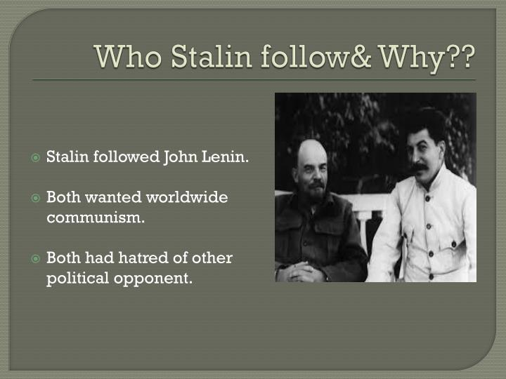 Who Stalin