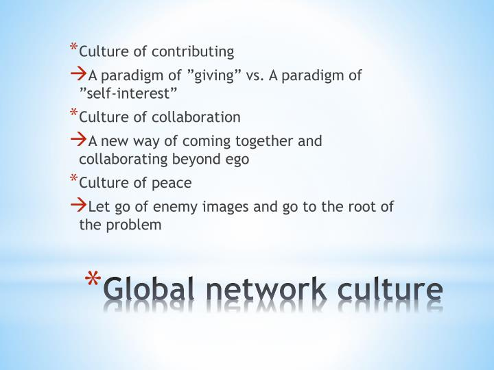 Culture of contributing