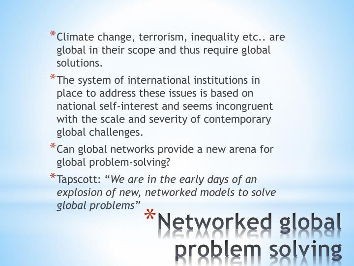 Climate change, terrorism, inequality