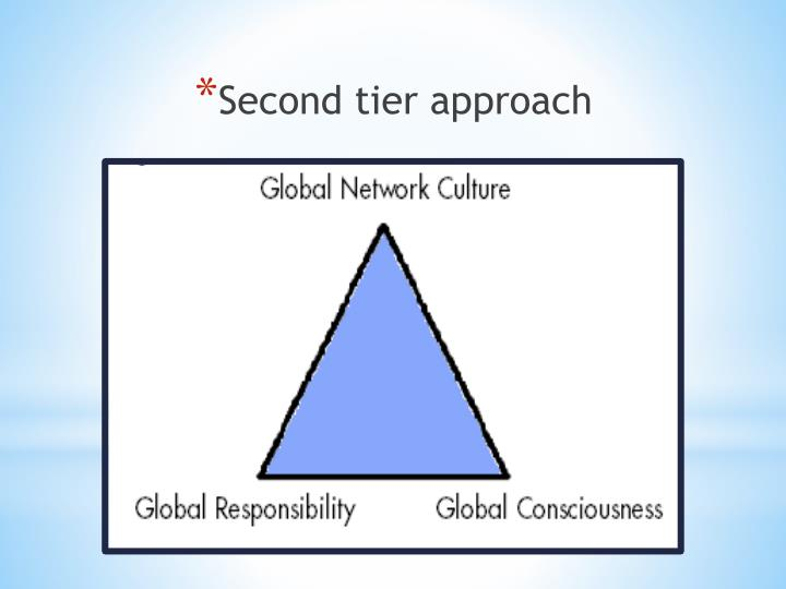 Second tier approach