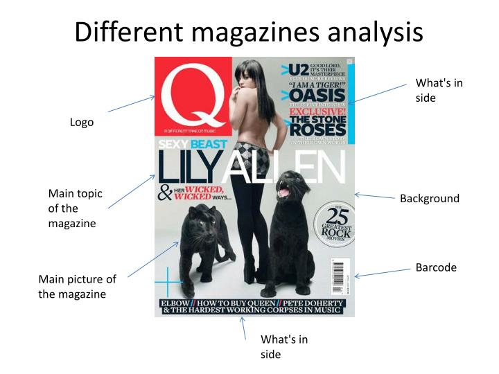 Different magazines analysis