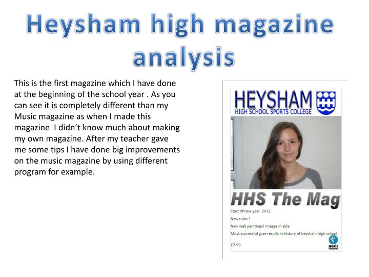 Heysham high magazine