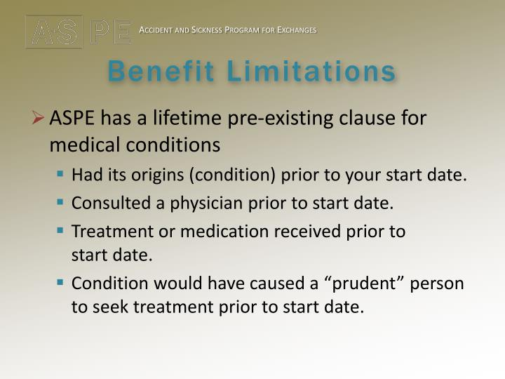 Benefit Limitations