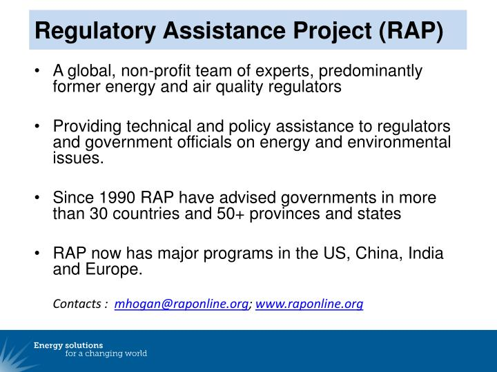 Regulatory Assistance Project (RAP)