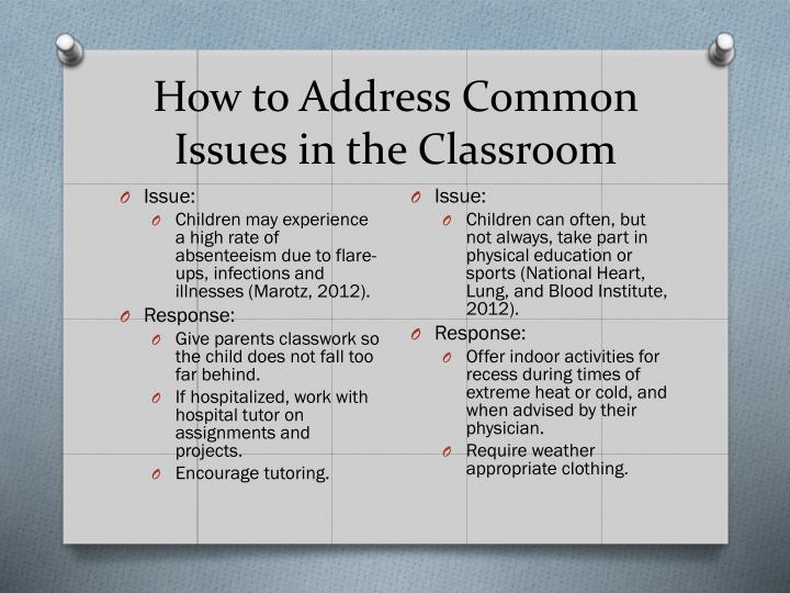 How to Address Common Issues in the Classroom