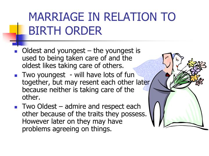MARRIAGE IN RELATION TO BIRTH ORDER
