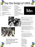 top ten songs of 1969