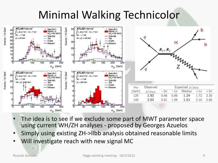 Minimal Walking Technicolor