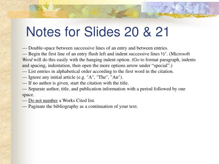 Notes for Slides 20 & 21