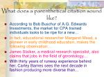 what does a parenthetical citation sound like