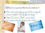 what is a parenthetical citation