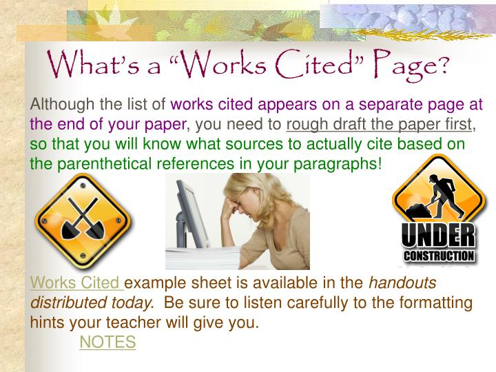 "What's a ""Works Cited"" Page?"