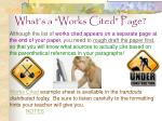 what s a works cited page