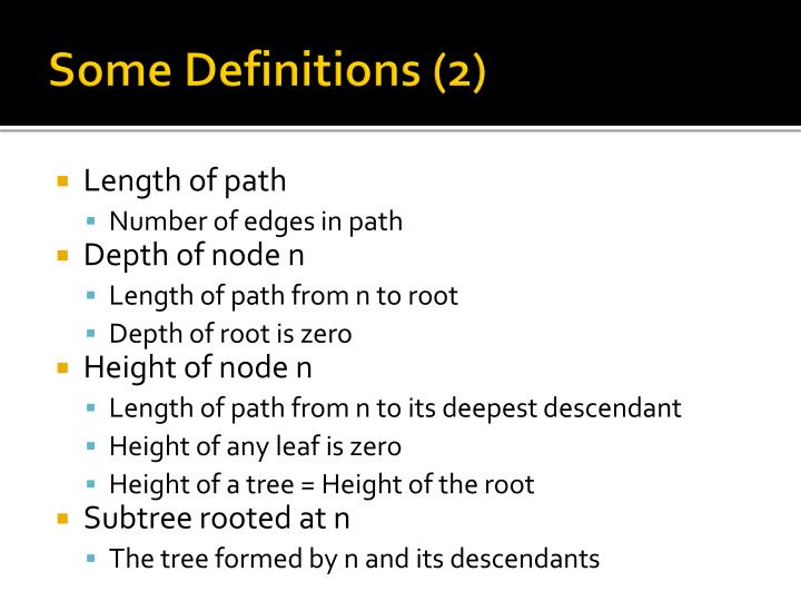 Some Definitions (2)