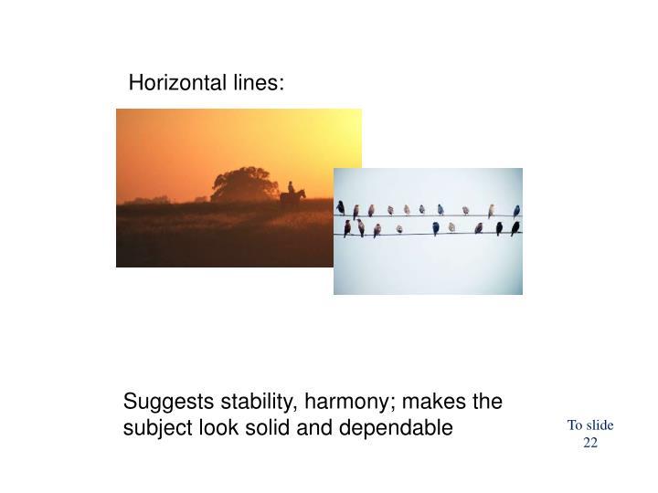 Horizontal lines:
