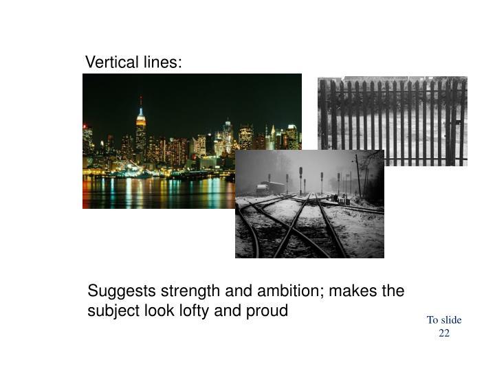 Vertical lines: