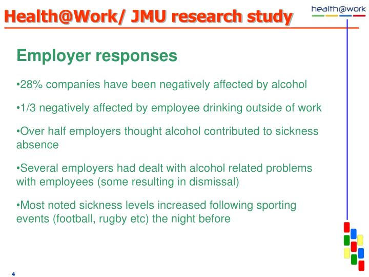 Health@Work/ JMU research study