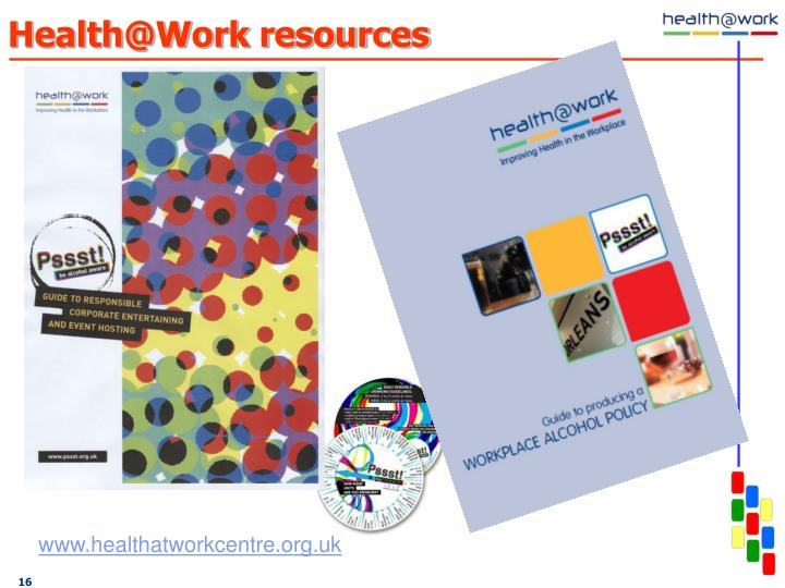 Health@Work resources