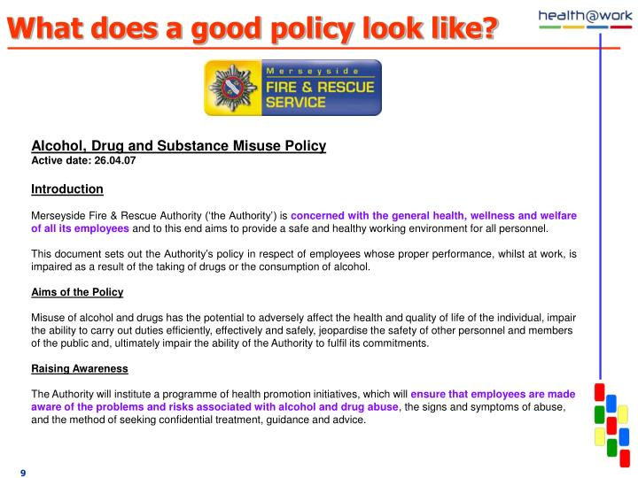 What does a good policy look like?