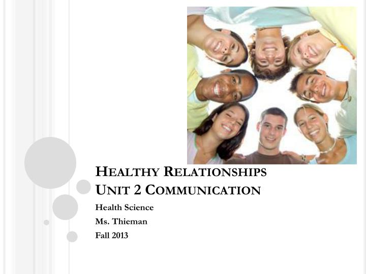 healthy relationships unit 2 communication
