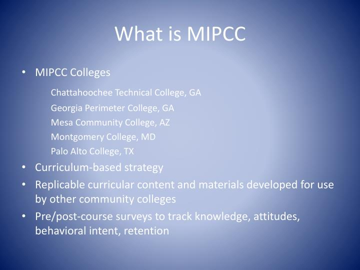 What is mipcc1