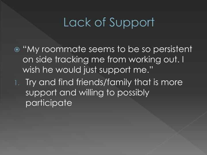 Lack of Support