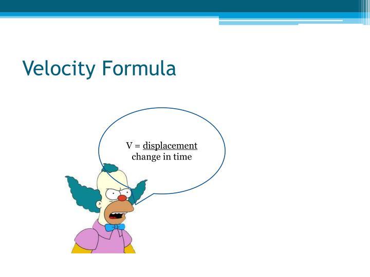 Velocity Formula