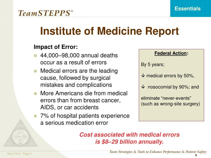 Institute of Medicine Report