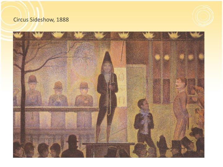 Circus Sideshow, 1888