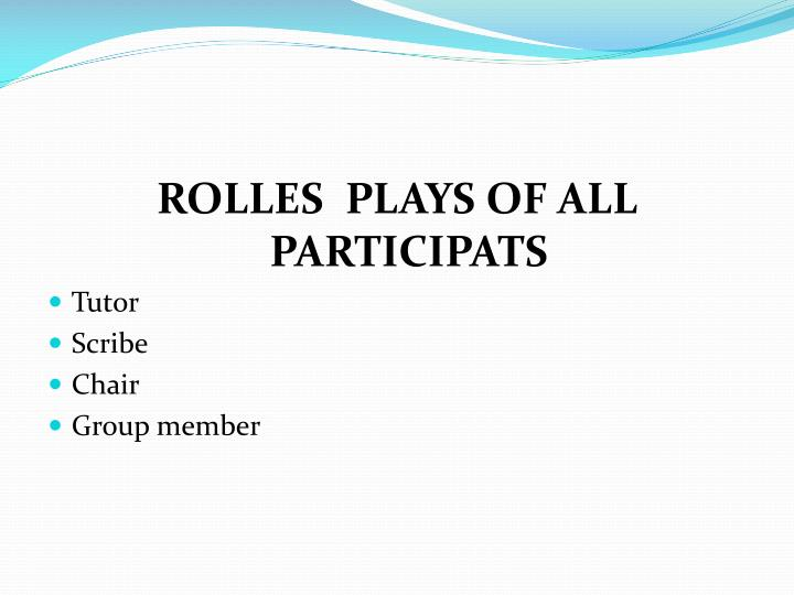 ROLLES  PLAYS OF ALL PARTICIPATS