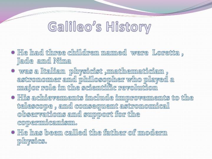 Galileo's History