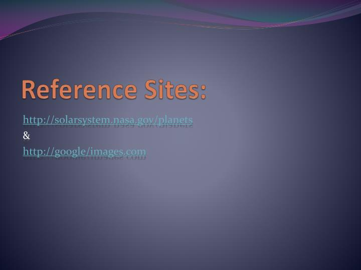 Reference Sites: