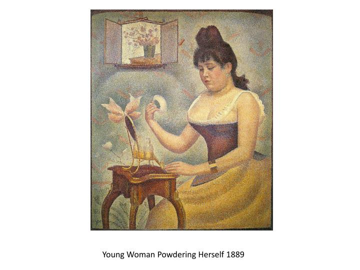 Young Woman Powdering Herself 1889