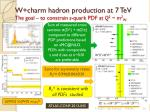 w charm hadron production at 7 tev the goal to constrain s quark pdf at q 2 m 2 w