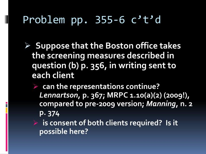 Problem pp. 355-6