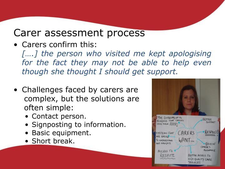 Carer assessment process