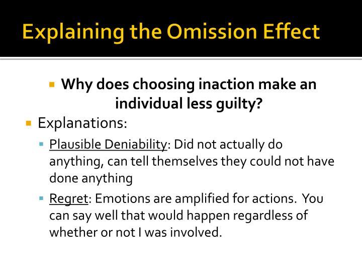 Explaining the Omission Effect