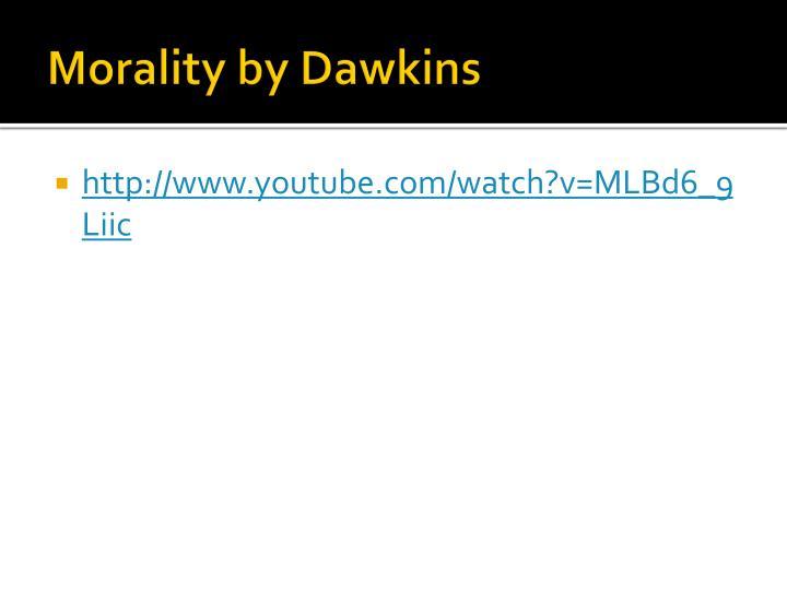 Morality by Dawkins
