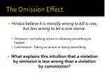 the omission effect