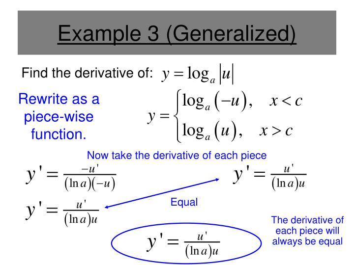 Example 3 (Generalized)