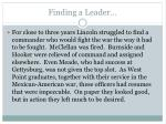 finding a leader