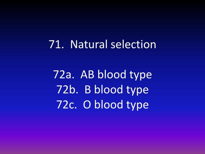 71.  Natural selection