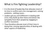 what is fire fighting leadership