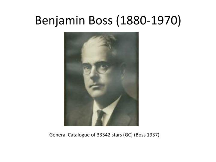 Benjamin Boss (1880-1970)