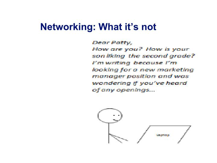 Networking: What it's not