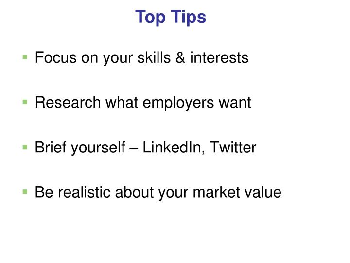 Focus on your skills & interests