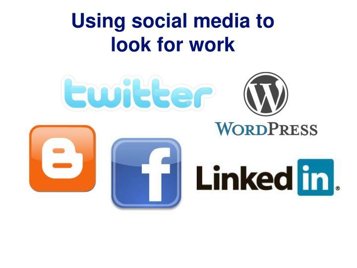 Using social media to