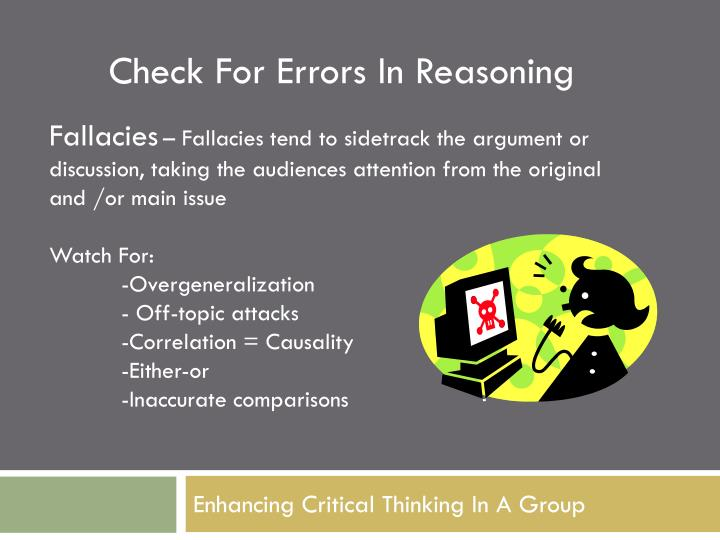 Check For Errors In Reasoning