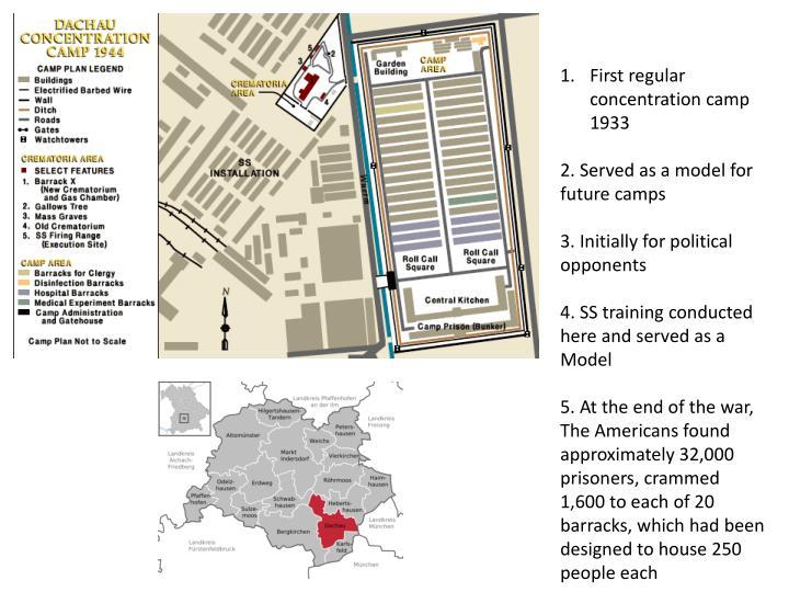 First regular concentration camp 1933