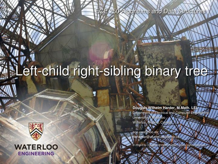 Left-child right-sibling binary tree